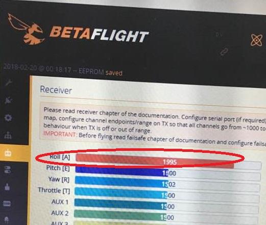 BetaflightのAileron