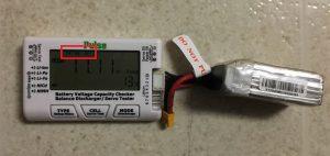 バッテリーチェッカーで3セルと表示される