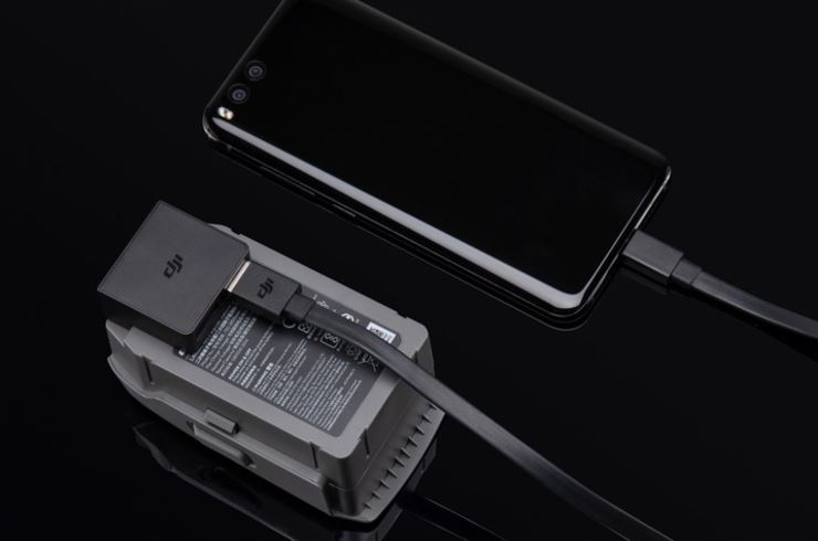 Mavic2用のバッテリーPower Bankアダプター