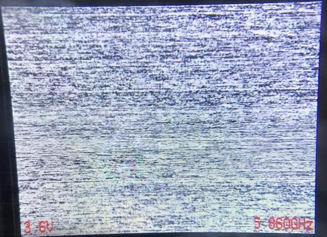 ドローンゴーグル映像が砂嵐状態