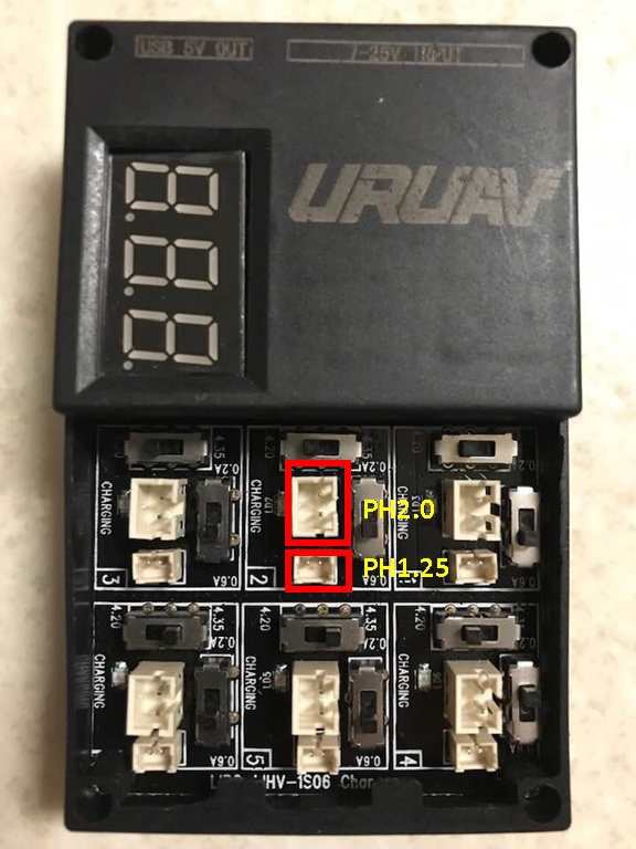 UR65充電器 端子説明