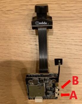 Caddx Tarsierのボタン説明