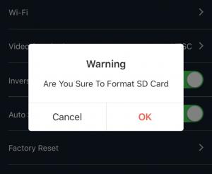 Caddx TarsierのSDカード初期化5