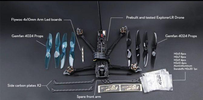 Flywoo Explorer LR4に含まれるもの