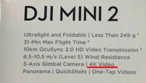 dji mini2のカメラ性能